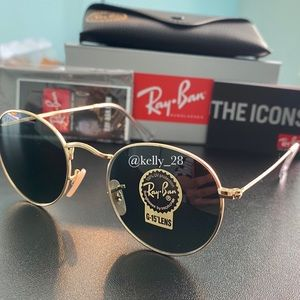 Ray-Ban Round Metal Gold Frame RB3447 NEW